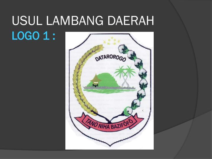 USUL LAMBANG DAERAH