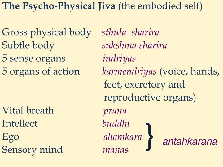 The Psycho-Physical Jiva