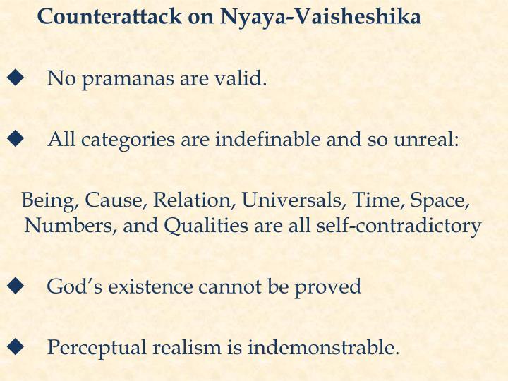 Counterattack on Nyaya-Vaisheshika