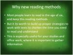 why new reading methods