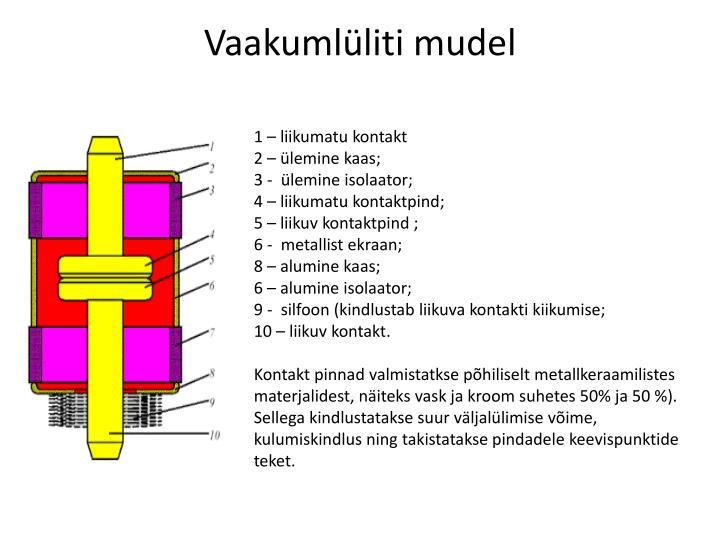 Vaakumlüliti mudel