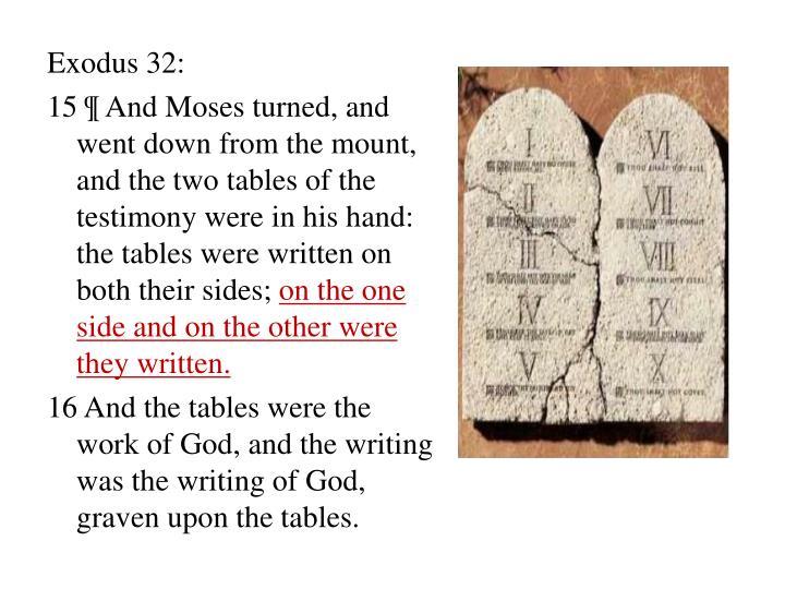 Exodus 32: