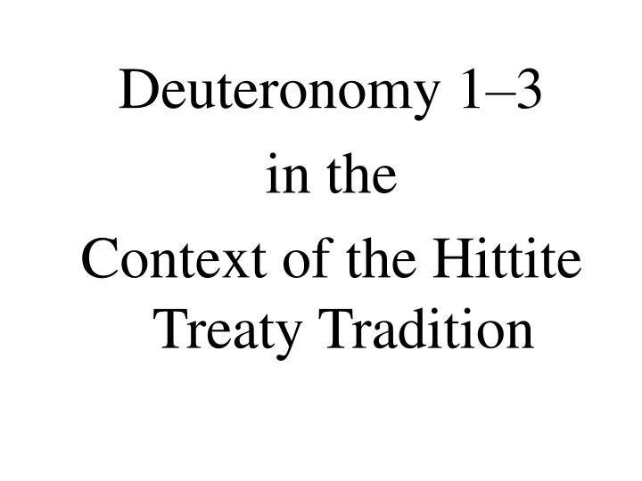 Deuteronomy 1–3