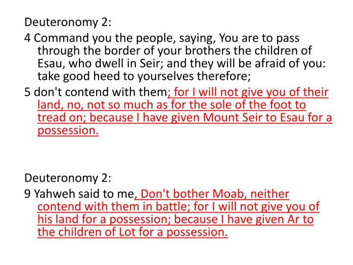Deuteronomy 2: