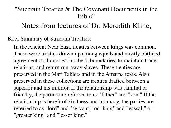 """Suzerain Treaties & The Covenant"