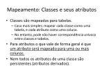 mapeamento classes e seus atributos