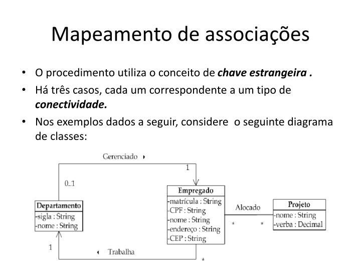 Mapeamento de associações