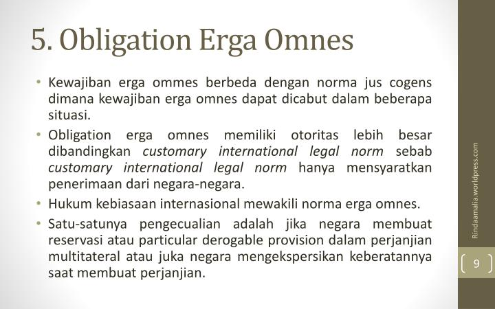5. Obligation