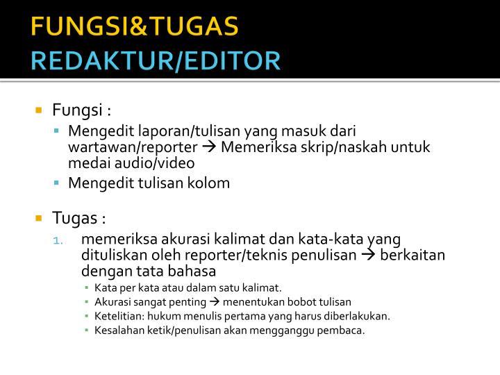 FUNGSI&TUGAS