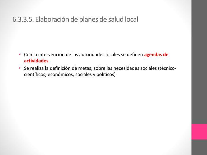 6.3.3.5. Elaboración de planes de salud local