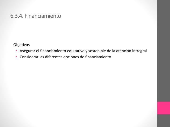 6.3.4. Financiamiento