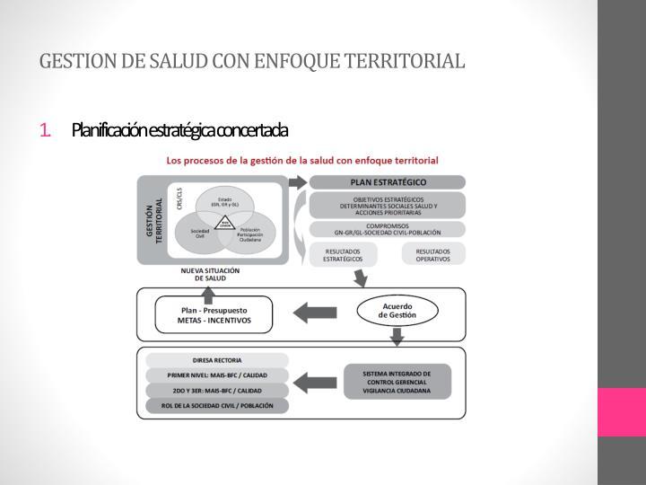 GESTION DE SALUD CON ENFOQUE TERRITORIAL