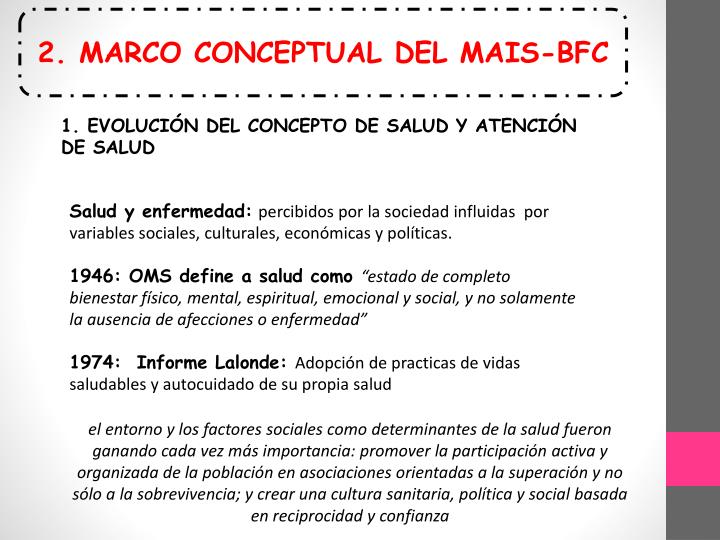 2. MARCO CONCEPTUAL DEL MAIS-BFC