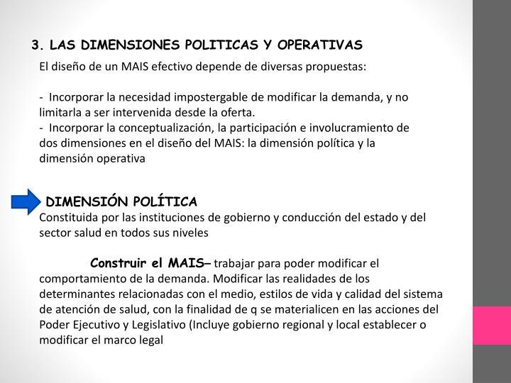 3. LAS DIMENSIONES POLITICAS Y OPERATIVAS