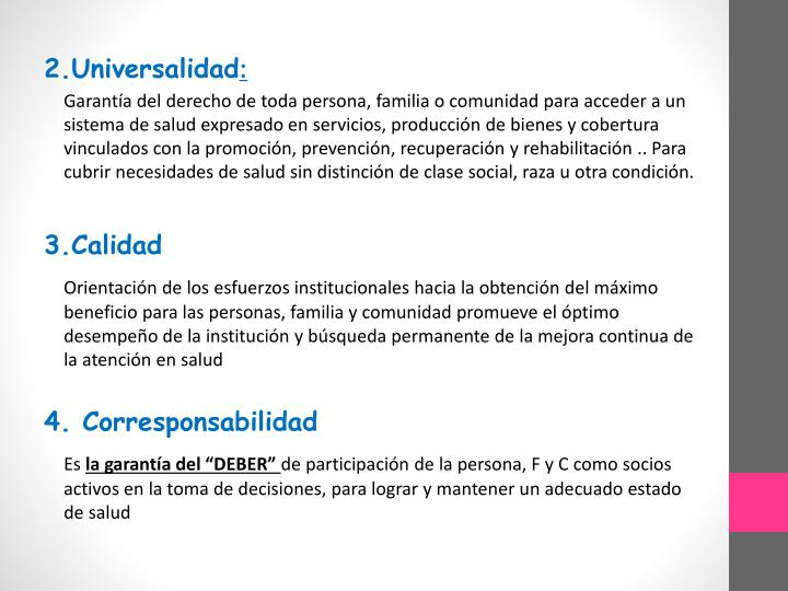 2.Universalidad