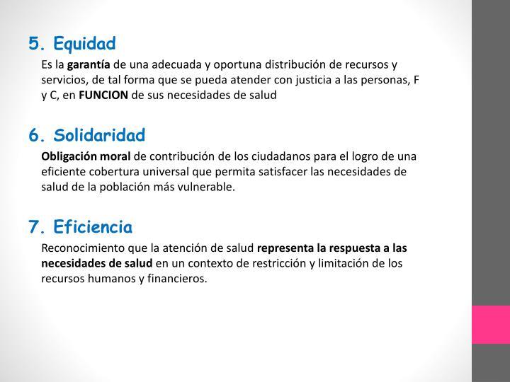 5. Equidad