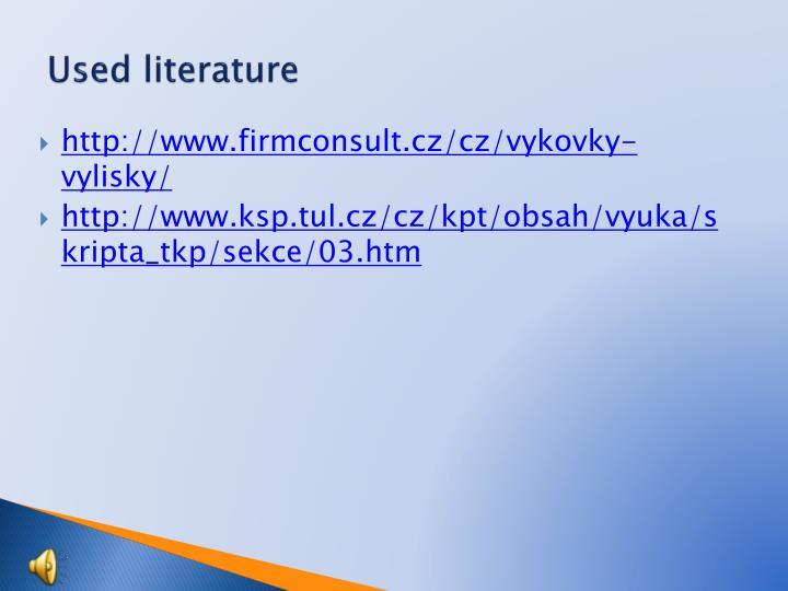 Used literature