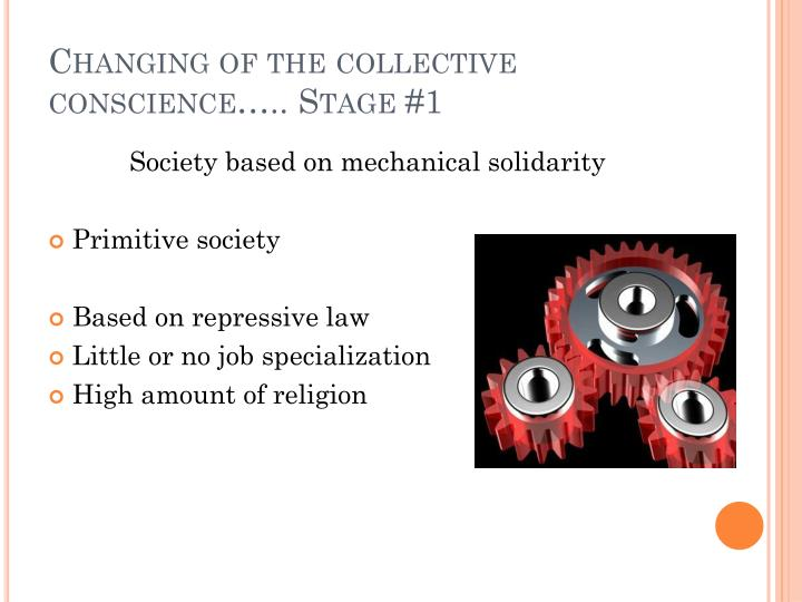 Changing of the collective conscience….. Stage #1