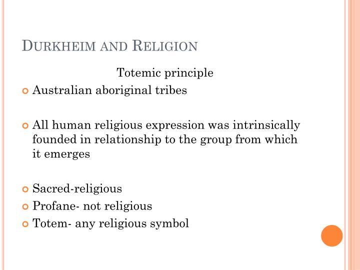 Durkheim and Religion