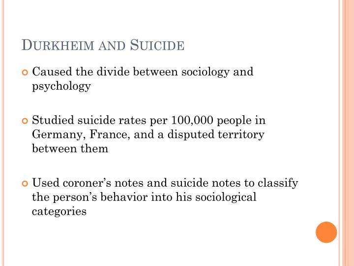 Durkheim and Suicide