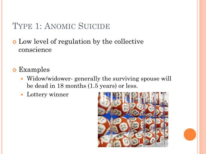 Type 1: Anomic Suicide