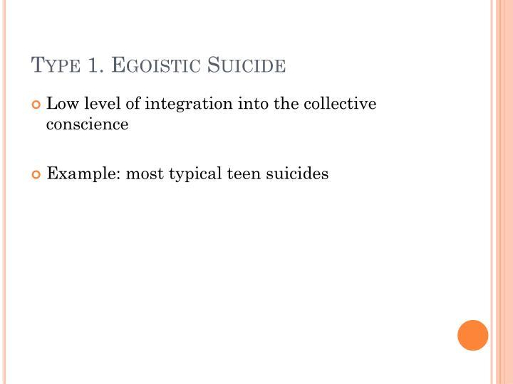 Type 1. Egoistic Suicide