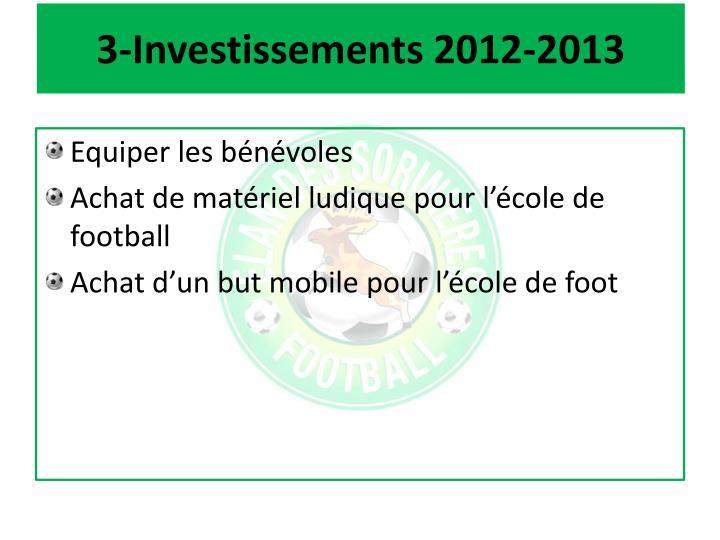 3-Investissements