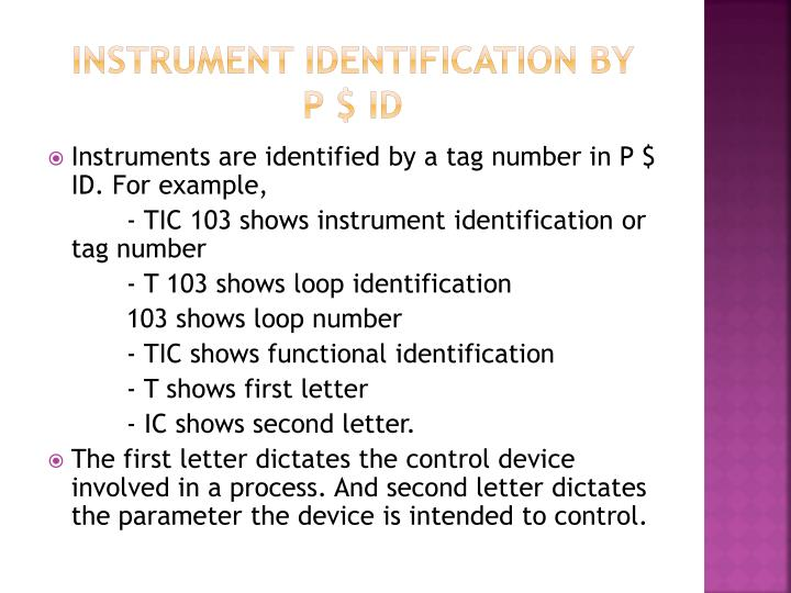 Instrument identification by