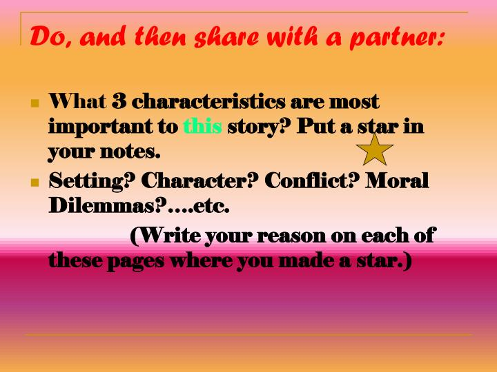 Do, and then share with a partner:
