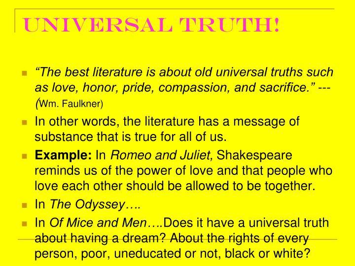 Universal truth!