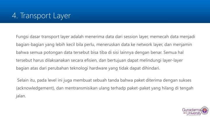 4. Transport Layer