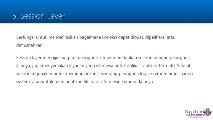 5. Session Layer
