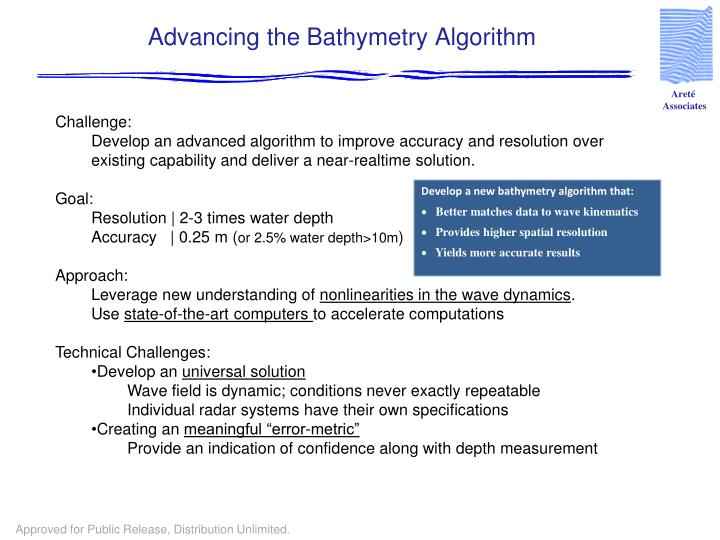 Advancing the Bathymetry Algorithm