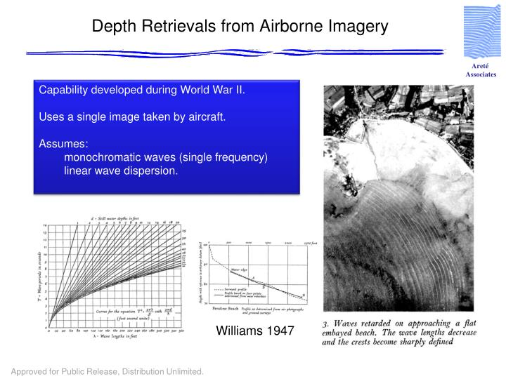 Depth Retrievals from Airborne Imagery