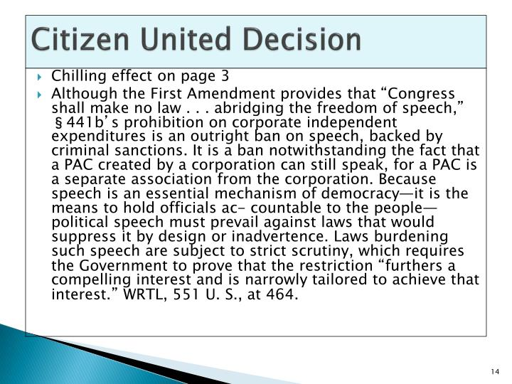 Citizen United Decision