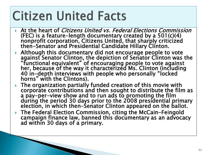 Citizen United Facts