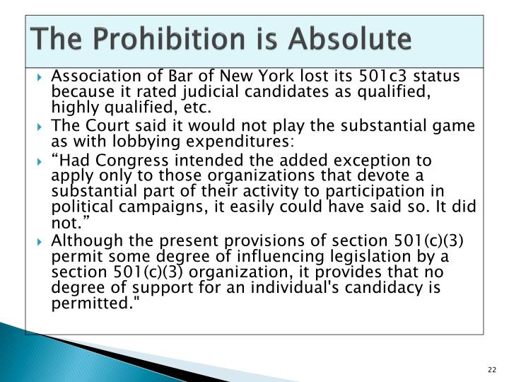 The Prohibition is Absolute