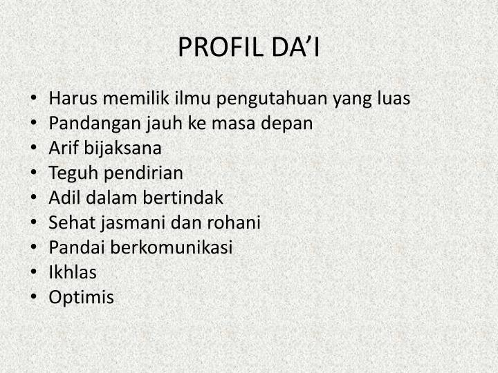 PROFIL DA'I
