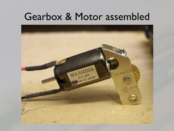 Gearbox & Motor assembled