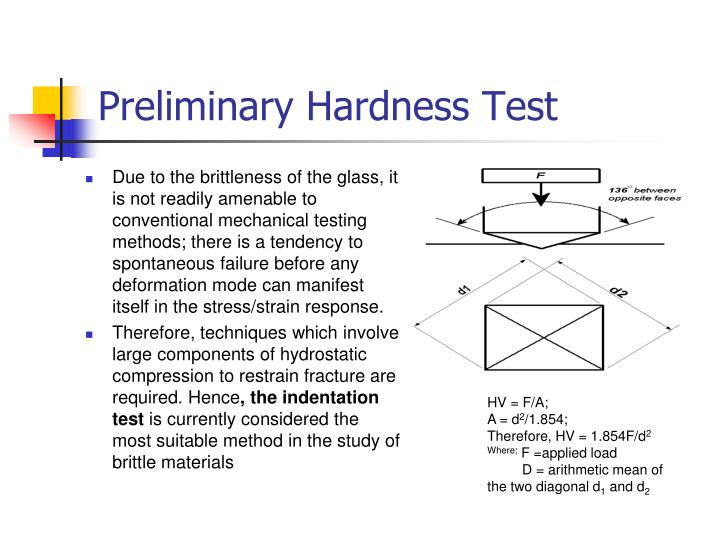 Preliminary Hardness Test