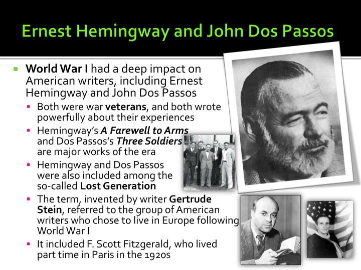 Ernest Hemingway and John Dos