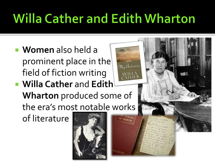 Willa Cather and Edith Wharton