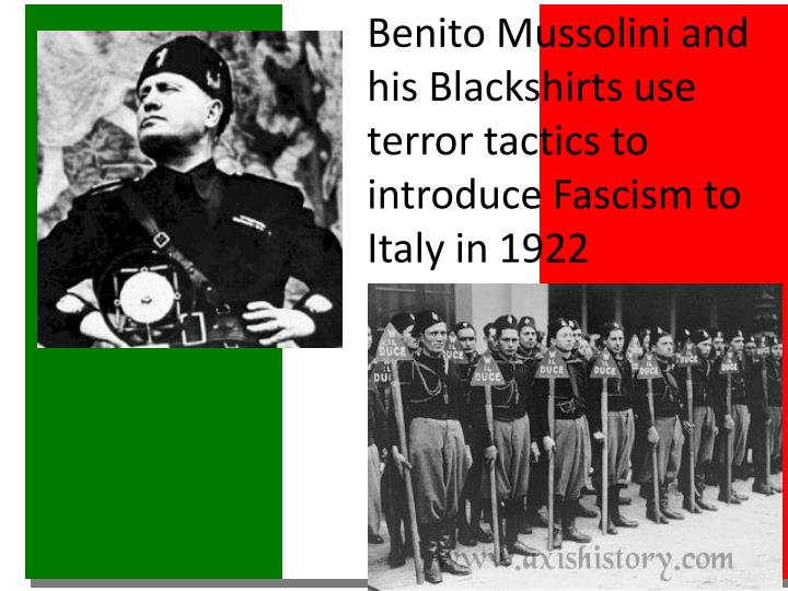 Benito Mussolini and his