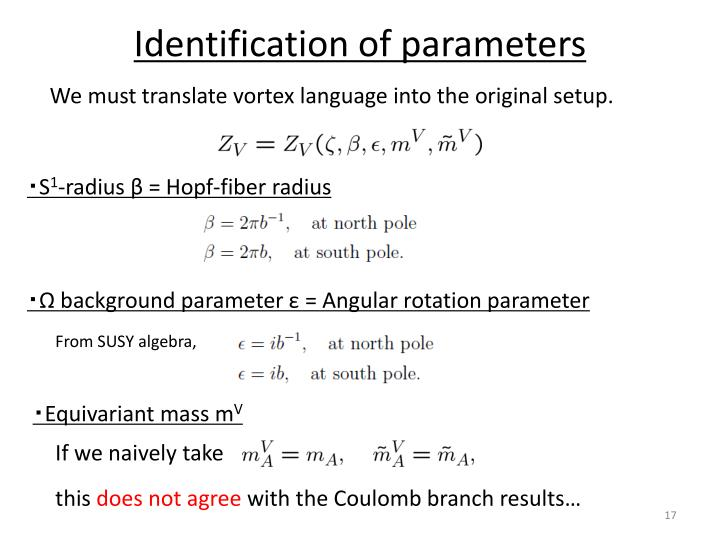 Identification of parameters