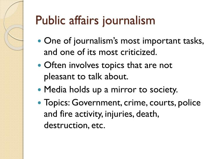 Public affairs journalism