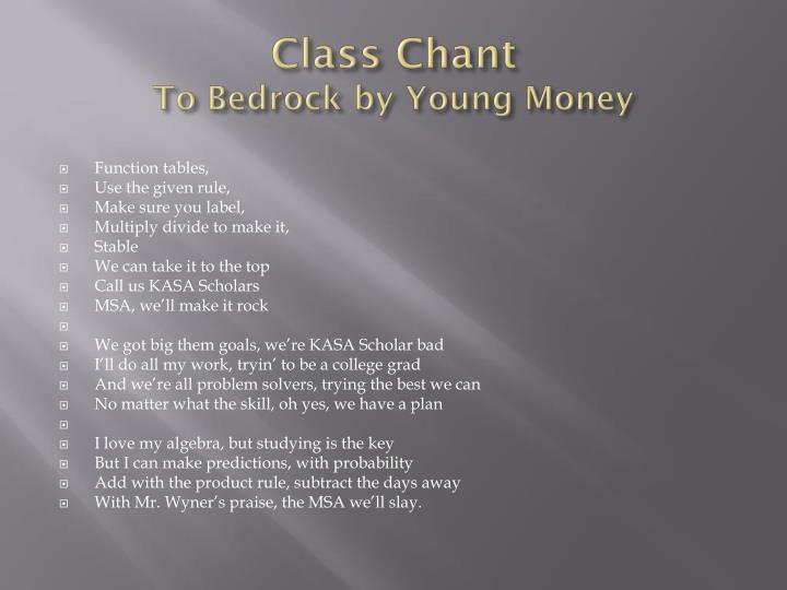 Class Chant