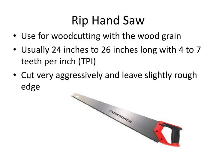 Rip Hand Saw