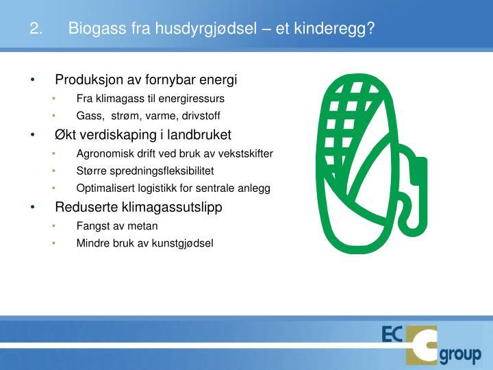 Produksjon av fornybar energi