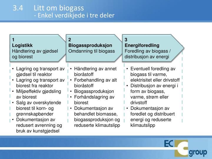 3.4Litt om biogass
