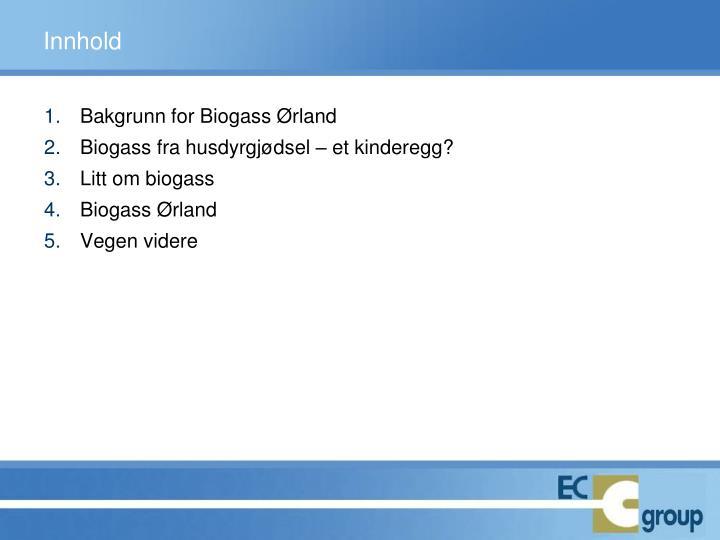 Bakgrunn for Biogass Ørland